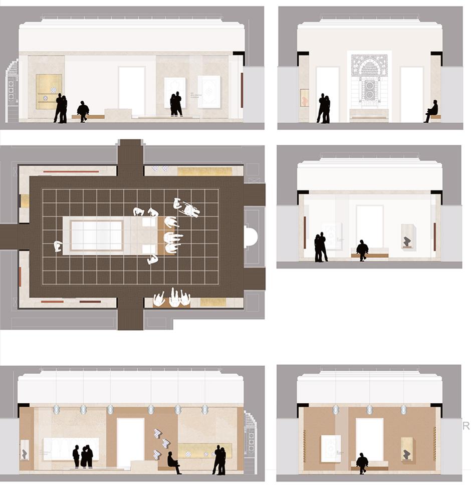 Szenographie. Visualisierung: Aufbau der Ausstellung.