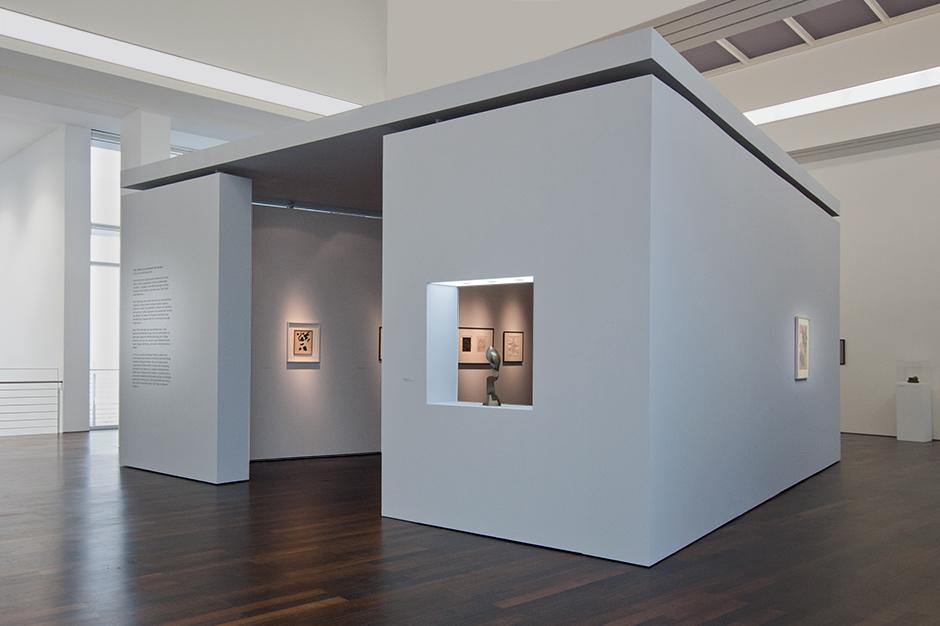 Ausstellungsgestaltung. Innenarchitektur der Ausstellung.
