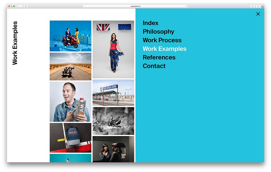 Screenshot der Webseite von Paul Roberts
