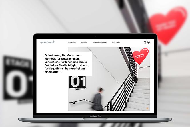 Screenshot der Website von Vangenhassend