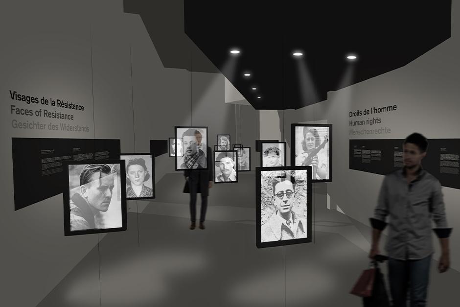 Ausstellungsdesign. Gesichter des Widerstandes.