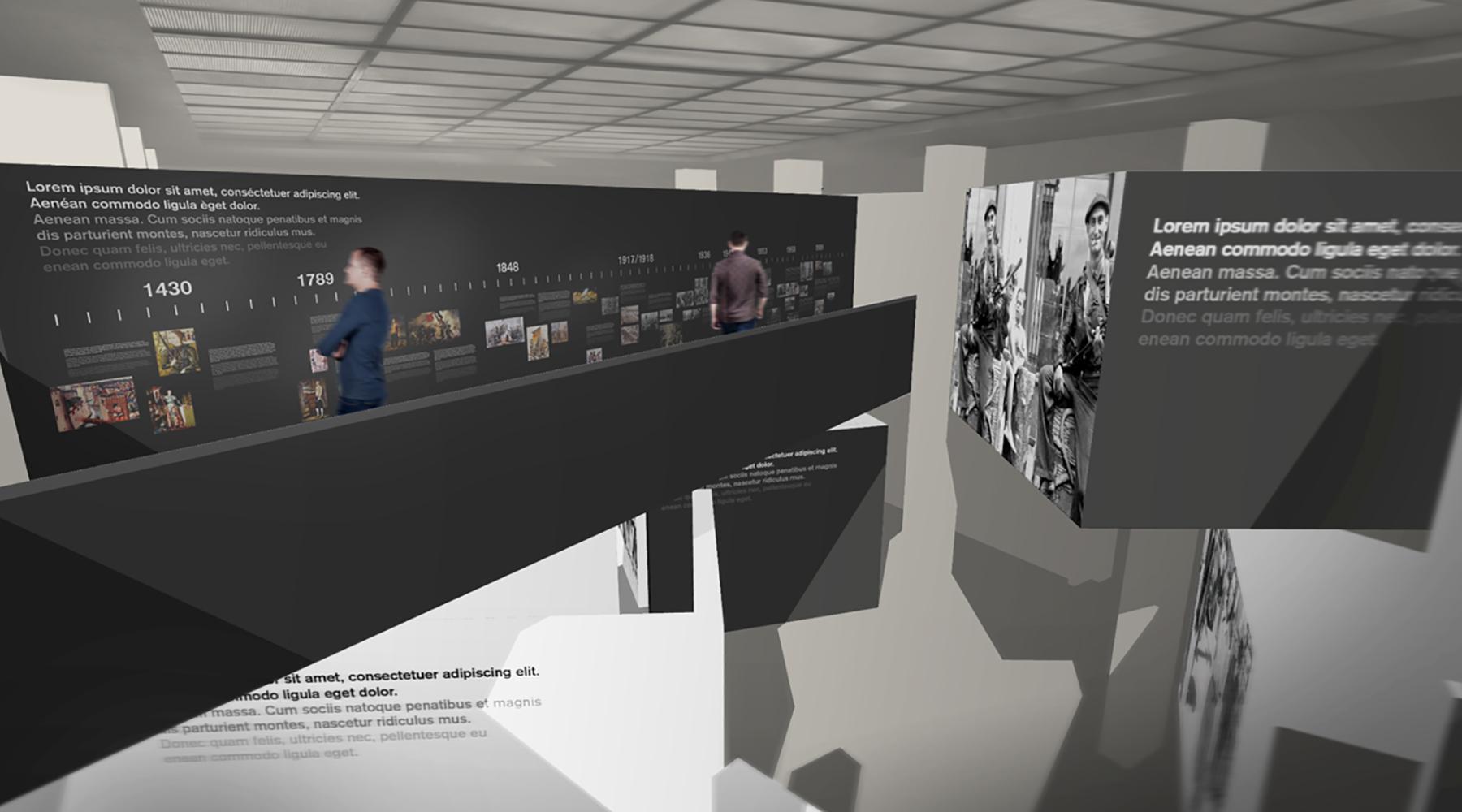 Ausstellungsdesign. La Musee de la Resistance.